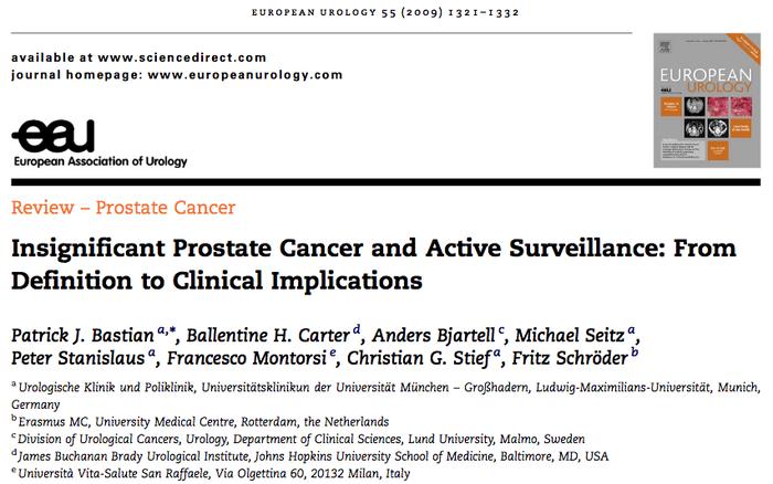 Aktive Überwachung beim Prostatakarzinom