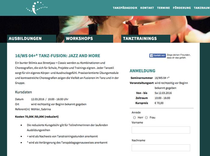 Veranstaltungsort: Ballett-Dance Akademie Köln