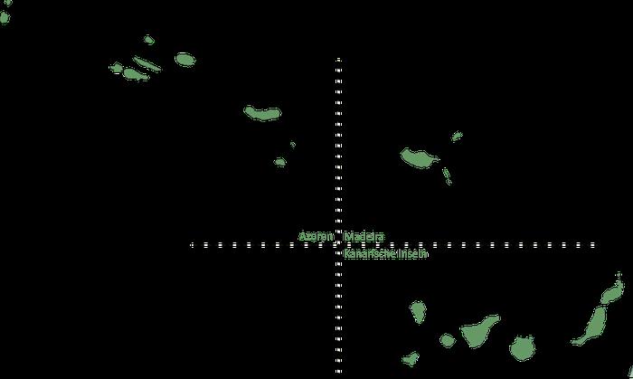 Karte zur Verbreitung des Kanarienvogels