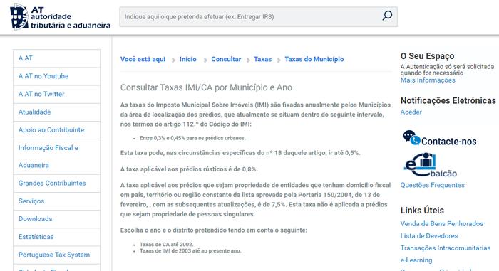 Grundsteuer Portugal IMI