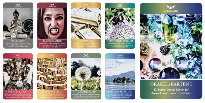 Orakelkarten, Kartenlegen, Zusatzkarten fürs Lenormand