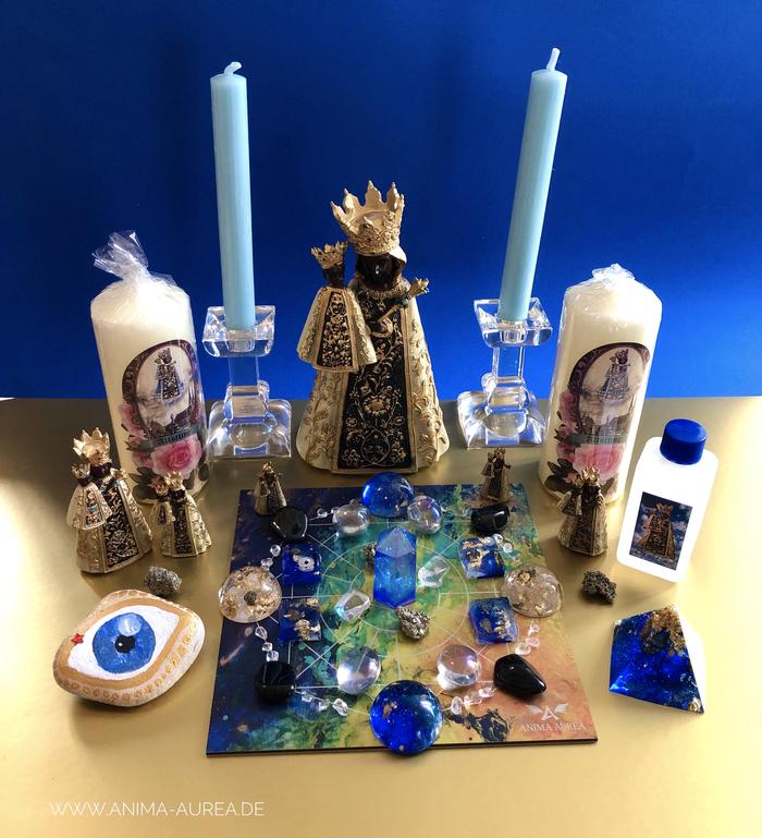Energie-Arbeit, Wunscherfüllung, Marienenergie, Maria, bitte für mich, Anima Aurea, Marienfiguren, schwarze Madonna