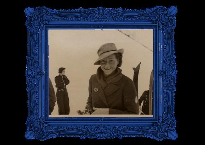 Georgette Chadourne, au ski