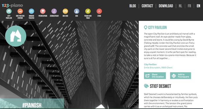 Ejemplo de página web con tipografía sin serifa.