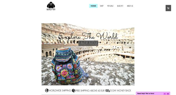 Página web Blackyeti.net