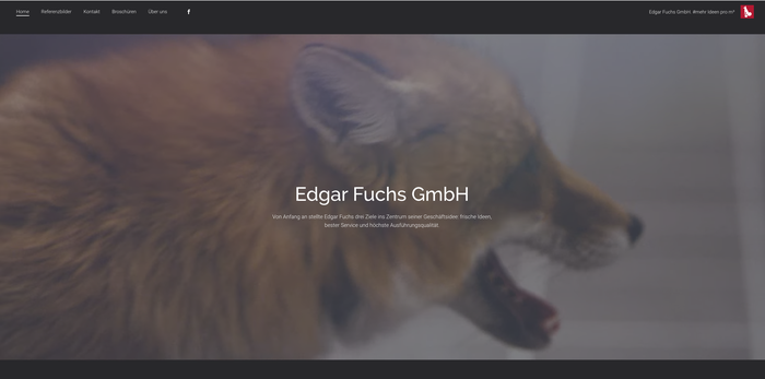 Vídeo de cabecera de la página web de Edgar Fuchs creada con Jimdo