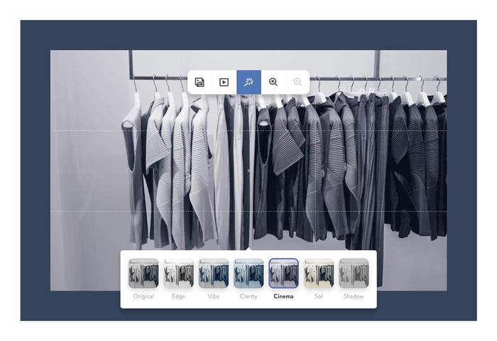 Presenta tus imágenes de forma profesional en tu web con los filtros de Jimdo Dolphin.