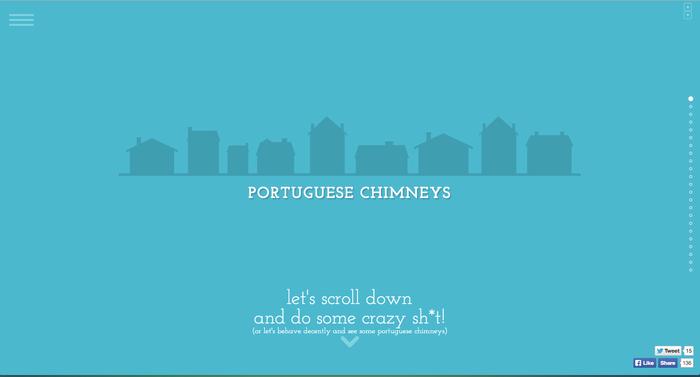 Ejemplo de página web con tipografía egipcia.