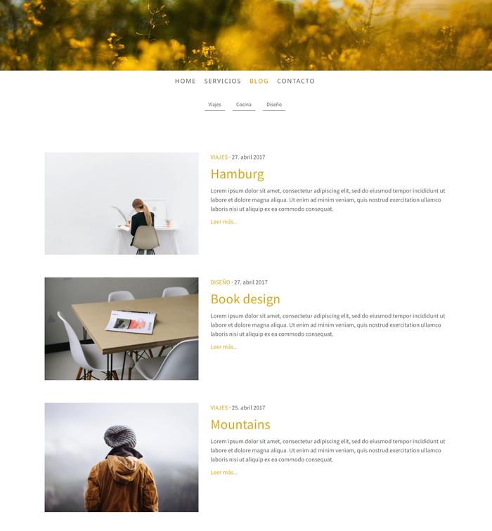 Con las nuevas categorías puedes organizar mejor tu blog Jimdo