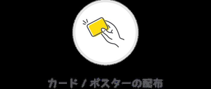 カード/ポスターの配布