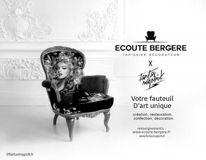 Un fauteuil d'art unique signé Fantasmagorik et Ecoute Bergère