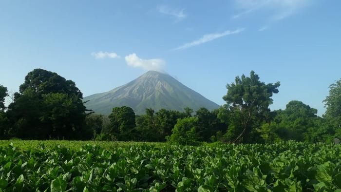 Vue panoramique du volcan Concepción