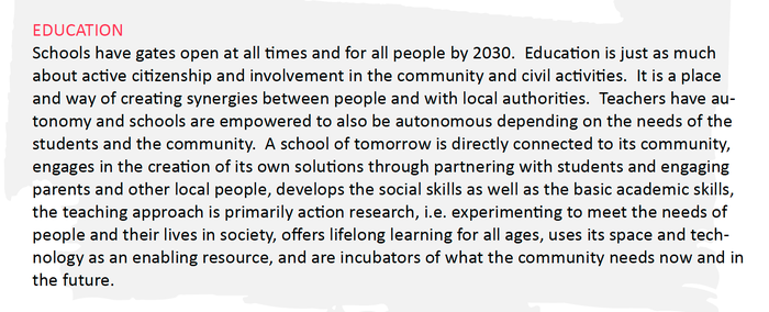 CitizensLab  vision for education in 20130 - open schools which are connected to the communities