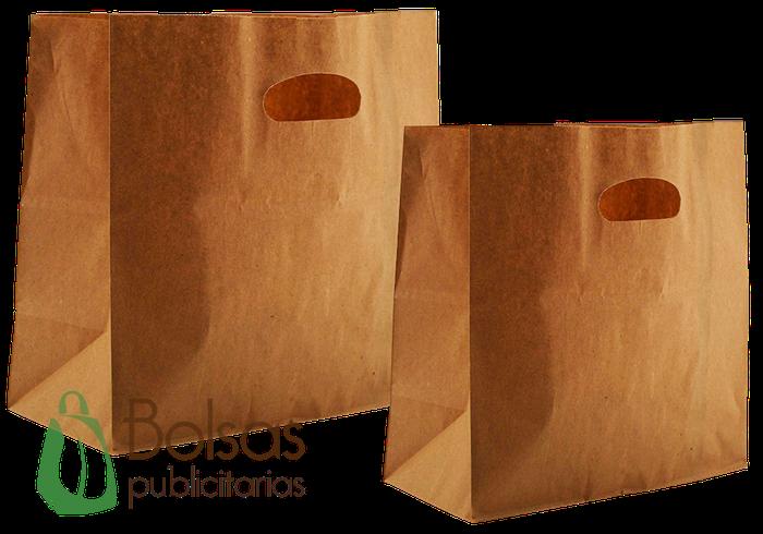 mejor selección de mas fiable super especiales Bolsas de Papel Kraft con Asa Suajada - Bolsas Publicitarias