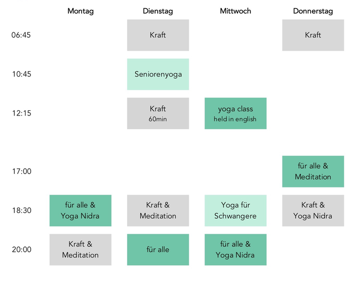 Yoga Baden, Yoga Nidra, Meditation