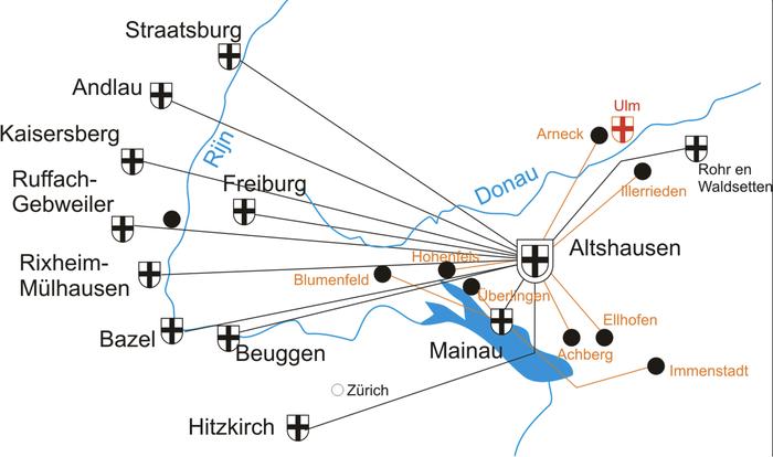 Les Commanderies teutoniques du bailliage aux XVIIe et XVIIIe siècles