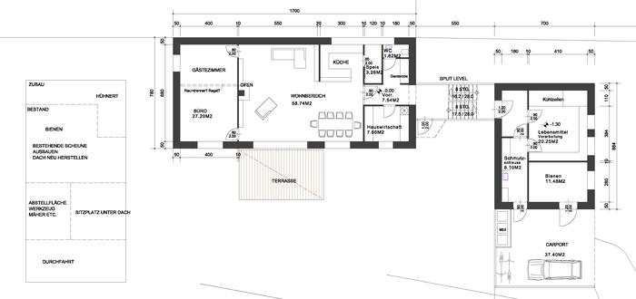 Neubau Dreiseithof Architektin Lehner