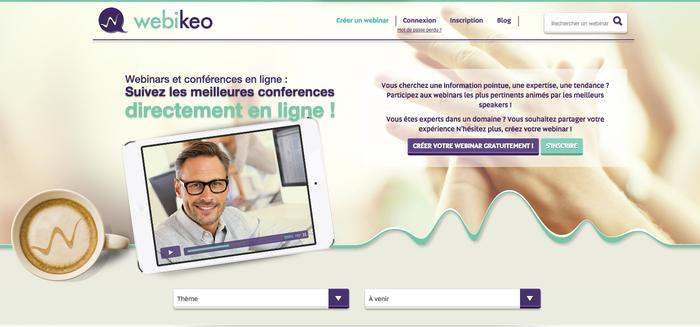 Webikeo, outil gratuit pour réaliser vos webinars marketing