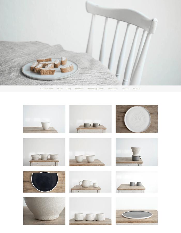 Un site web simple, clair et chaleureux – tout comme les oeuvres Sun Tree Studio.