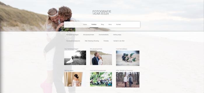 le site de photographie de mariage d'Alina