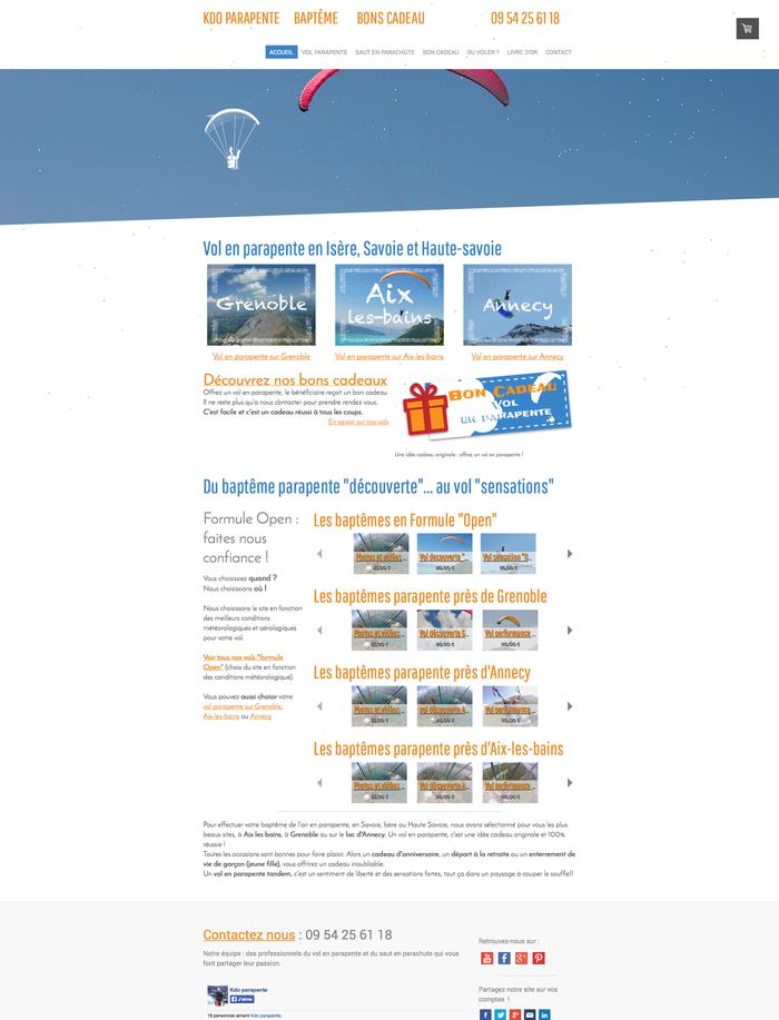 Exemple : cadeau-parapente.fr, réalisé par 24-7