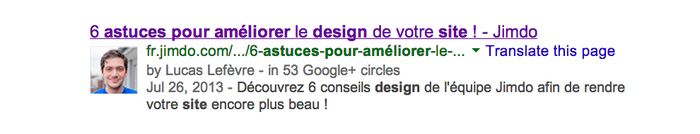 exemple de l'authorship google
