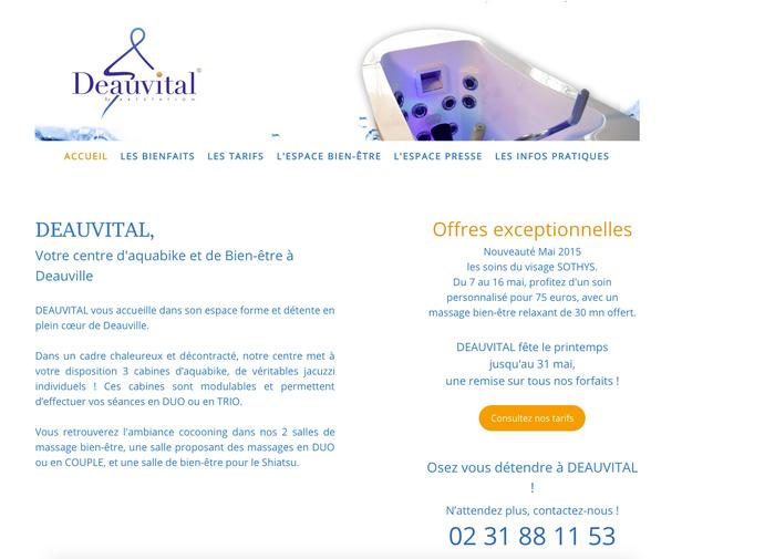 Exemple avec le site Jimdo http://www.massage-deauville.fr/ qui utilise bien le ton direct envers ses clients