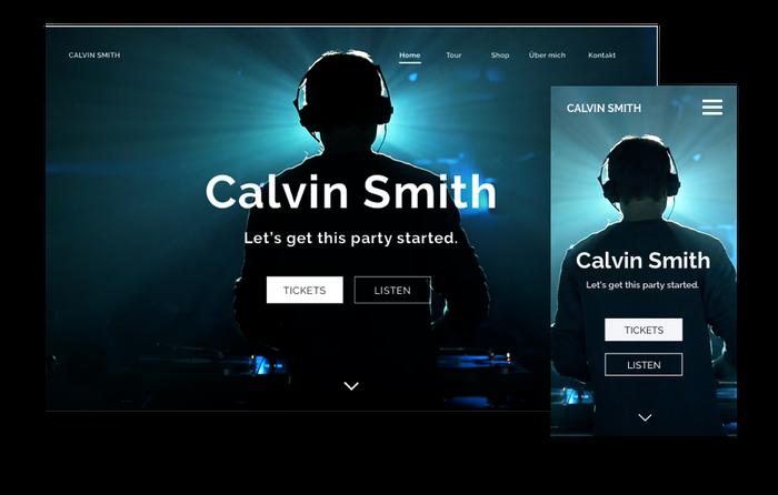 Exemple de site web pour un DJ