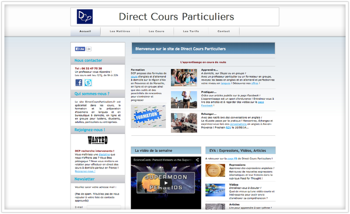 direct cours particuliers jimdo