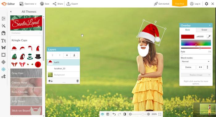 S'il est possible d'ajouter un chapeau de Père Noël, les possibilités sont illimitées ;)