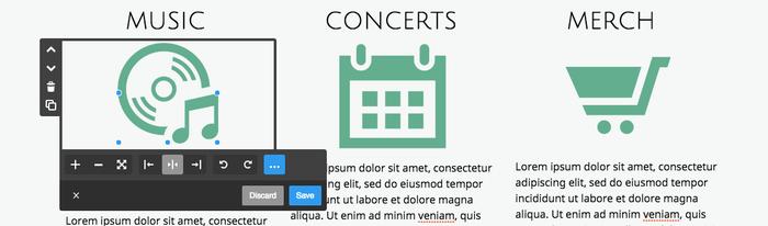 Ajoutez facilement une icône sur votre site grâce au module Image.