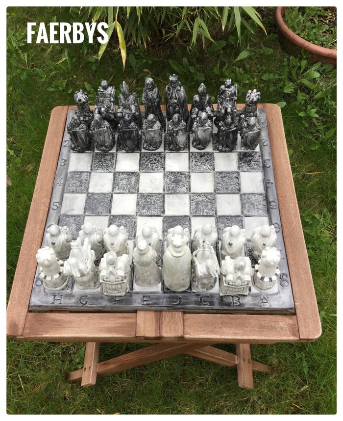 Gussform Schach Latexform - zum gießen mit Beton, BTonG oder Gips