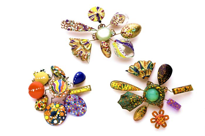 SPILLE informali, colori acrilici, materiali anni '70