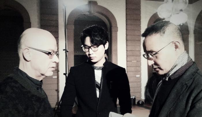 (From left) Gerhard Stäbler, Jaehyuck Choi, Kunsu Shim