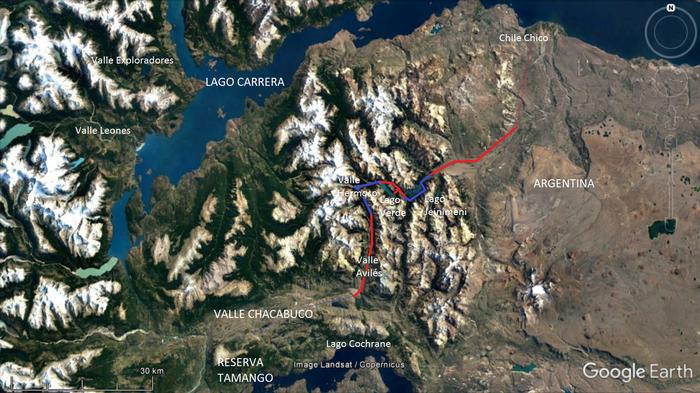 Lago Jeinimeni trek February/March 2015