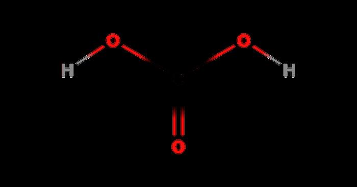 炭酸の構造式