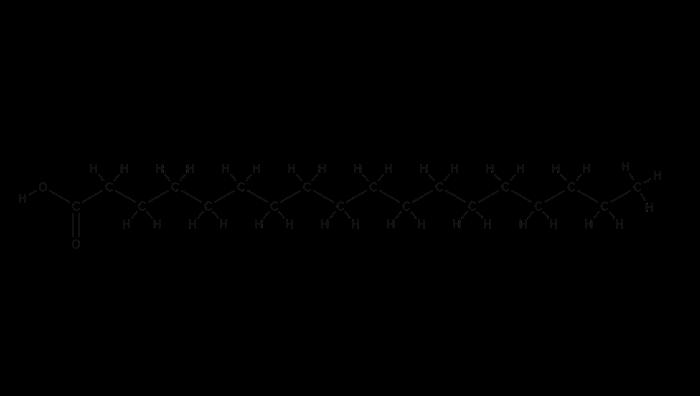 ステアリン酸の構造式