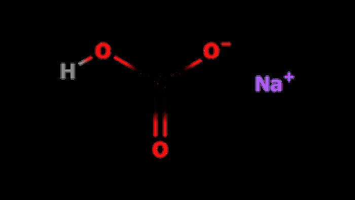 炭酸水素ナトリウムの構造式