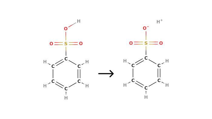 ベンゼンスルホン酸の構造式