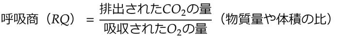 呼吸商の計算式