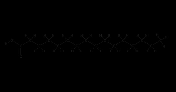 パルミチン酸の構造式