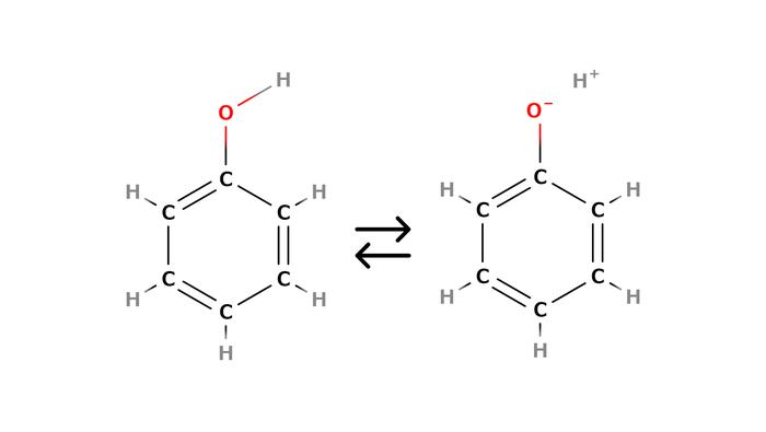 フェノールの構造式