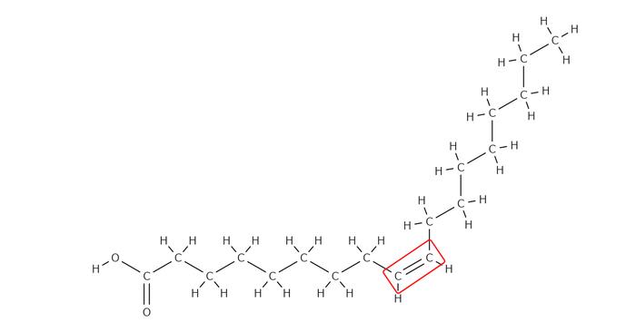 オレイン酸の構造式