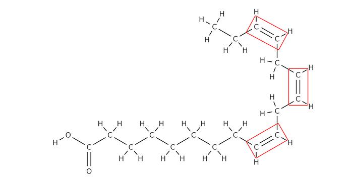 リノレン酸の構造式