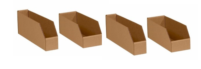 Corrugated storage bin boxes