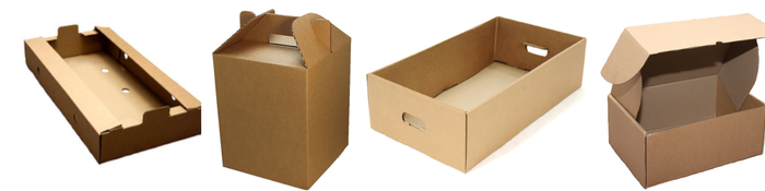 Corrugated die cut boxes cut to all sizes