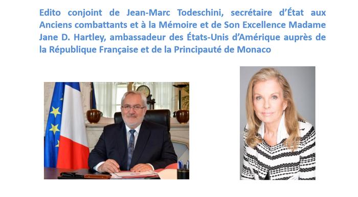 Document 11_ la cérémonie du 20 avril 2016 a réuni des autorités françaises et américaines au mémorial de l'escadrille La Fayette, Source: dossier de presse du Ministère de la Défense consacré à l'événement
