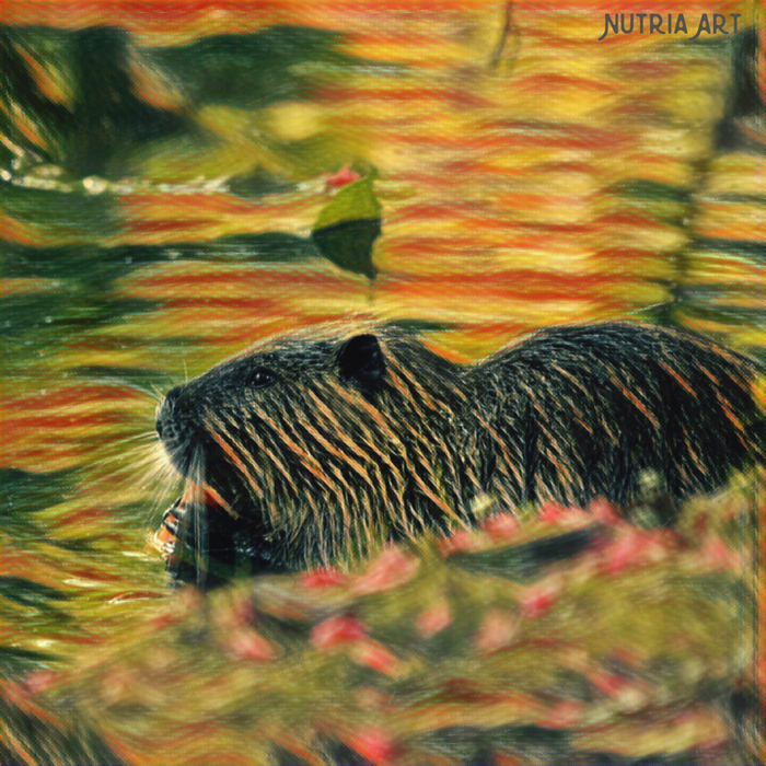 colorful nutria print