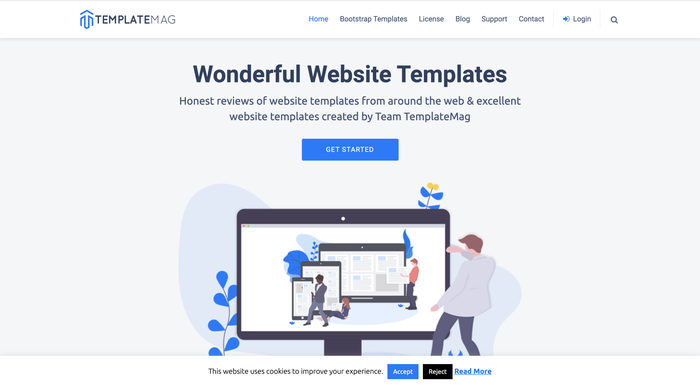 TemplateMagホームページ 参考画像