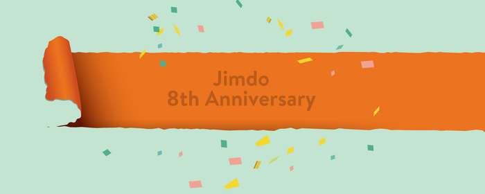 Jimdo 8th Anniversary